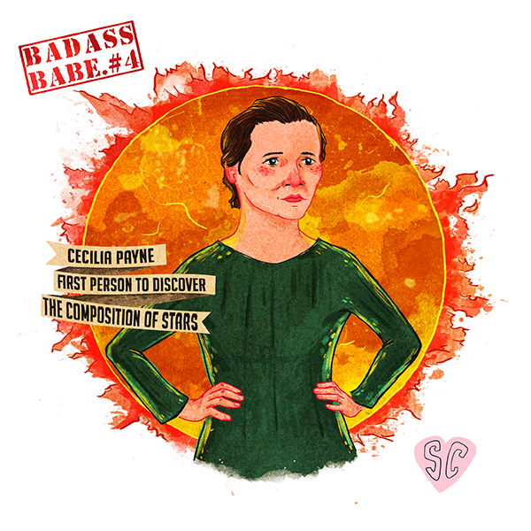 Cecilia Payne illustration by Sarah Cochrane