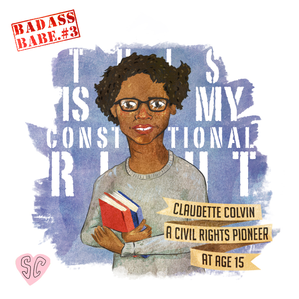 Claudette Colvin illustration by Sarah Cochrane
