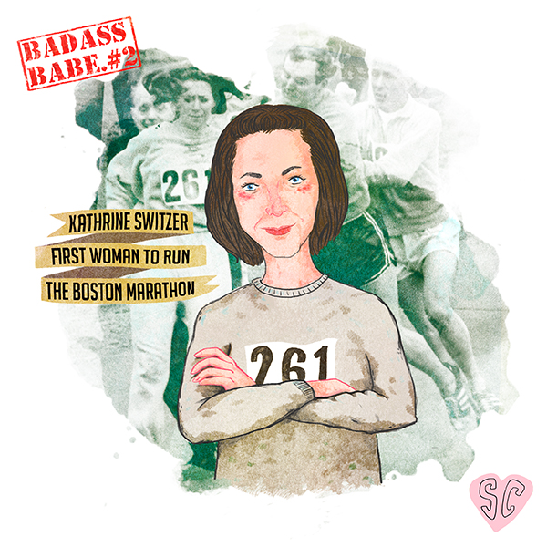 Kathrine Switzer illustration by Sarah Cochrane