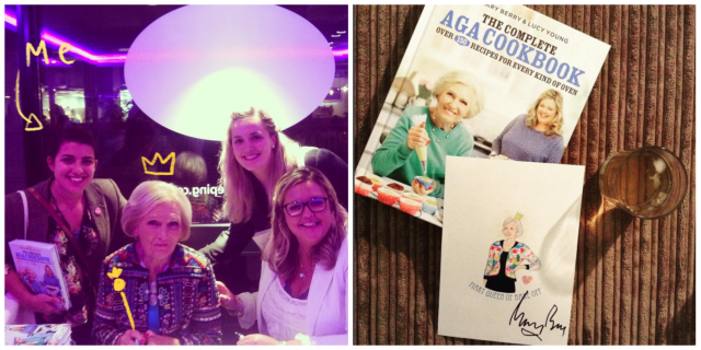 Meeting Mary Berry and Sarah Cochrane signed Illustration
