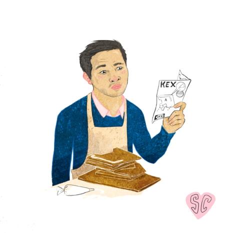 Alvin Great British Bake Off illustration by Sarah Cochrane