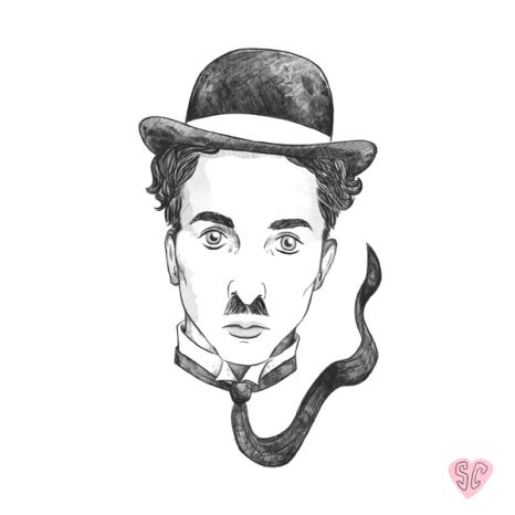 Charlie Chaplin Swale Film Soc illustration sarah cochrane