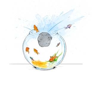 Fish bowl illustration 2