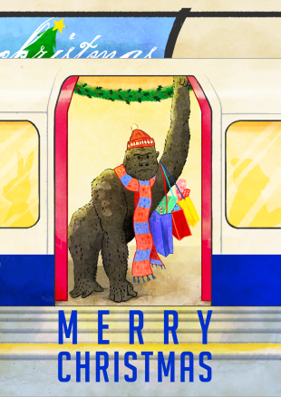 Gorrilla london underground tube sarah cochrane