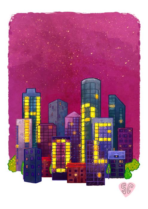 Hope Building Illustration by Sarah Cochrane