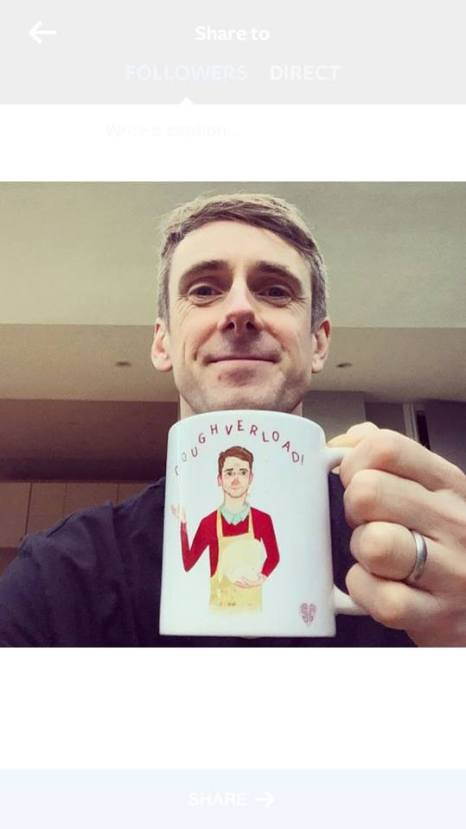 Mat Great from The Great British Bake Off by mug by Sarah Cochrane