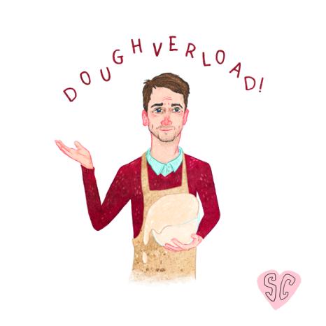 Mat Great British Bake off 'Doughverload' by Sarah Cochrane