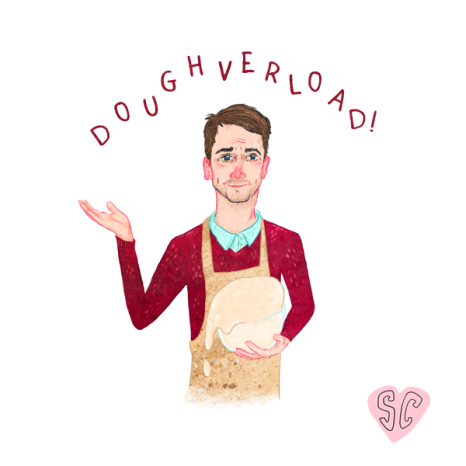 Mat Great British Bake off 'Doughverload' by Sarah Cochrane