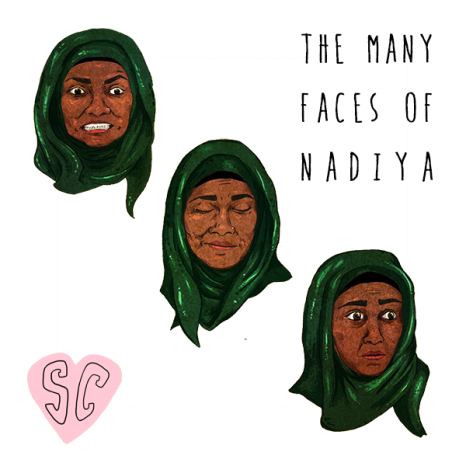 Nadiya Great British Bake Off illustration by Sarah Cochrane