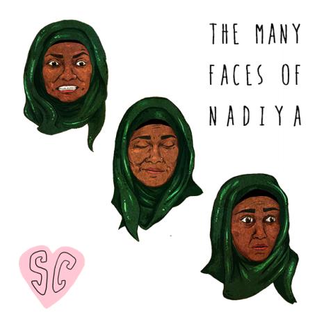 Nadiya Great British Bake Off illustration by Sarah Cochrane