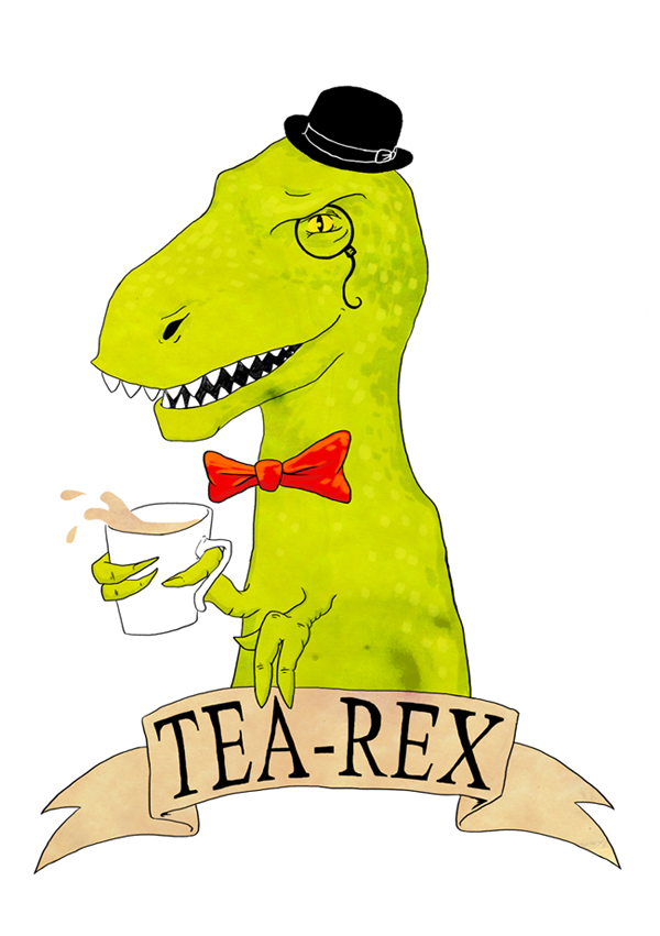 Tea-Rex Illustration by Sarah Cochrane