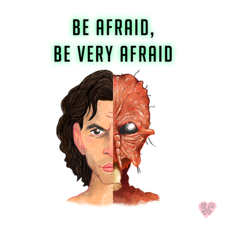 The Fly Fan Art Illustration Jeff Goldblum Swale Film Society Sarah Cochrane
