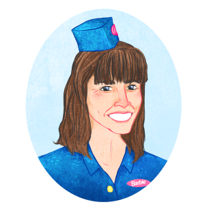 Tour Guide Karen Portrait Commission